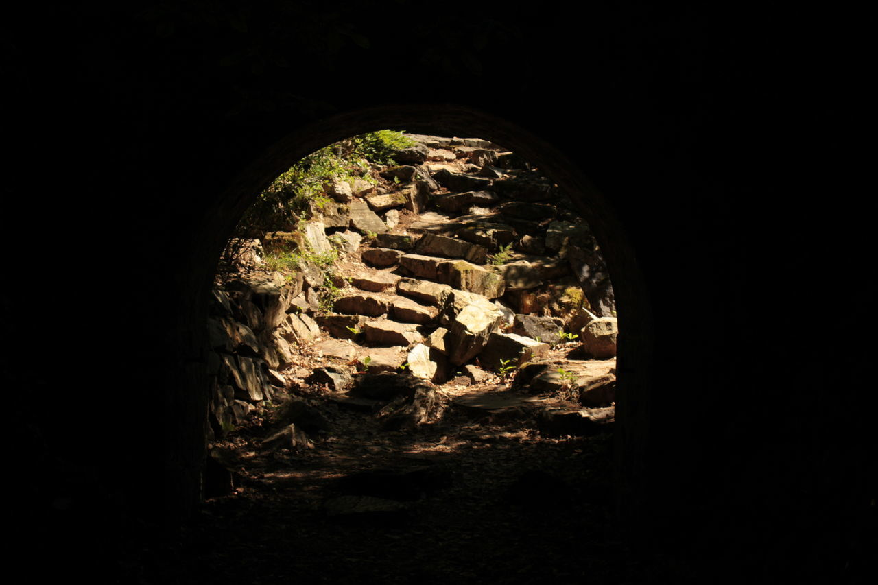 No People Gate Illuminated Darkandlight Dark Light ISO Arboretum Stairs Old Buildings StoneStairs Stairway StairwaytoHeaven EyeEmNewHere