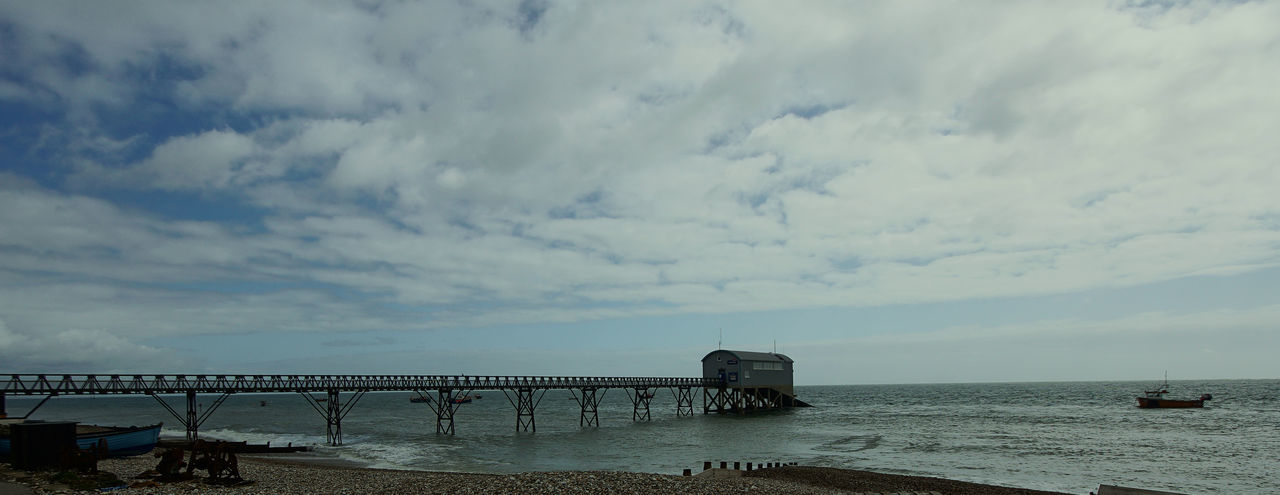 Cloudy Lifeboat Station... Pier RNLI RNLI Centre Scenics Sea Sea And Sky Water