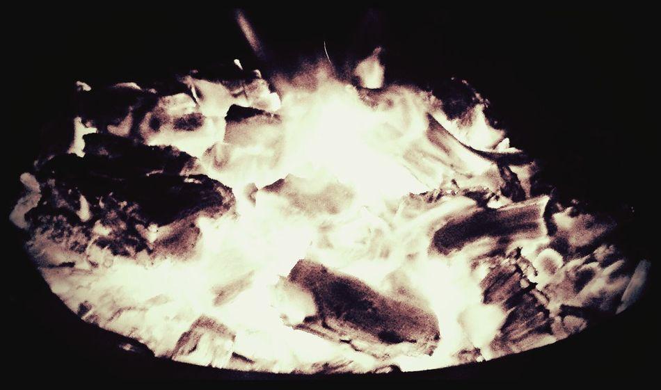 Fire Firepit Upclose  Outdoors BURNBABYBURN