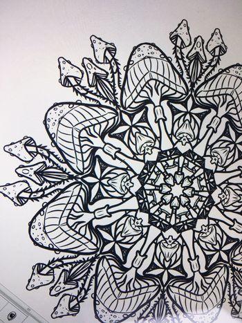 Mushroom mandala • Practice TattooApprentice Mushroom Shrooms Shroomery Shroomporn Mandala Tattoo