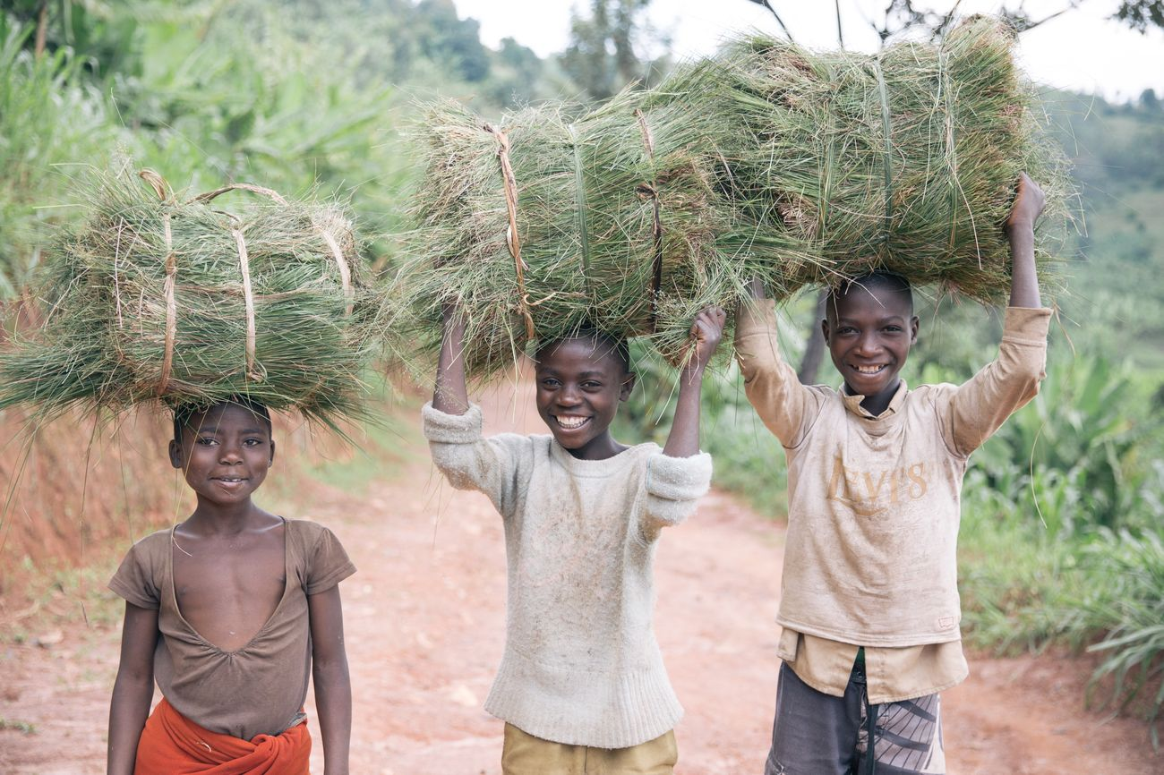 Portraits in Rwanda Child Fun Portrait Looking At Camera Girls Leisure Activity Boys Smiling Family Men Standing Enjoyment Front View Real People Friendship Group Of People Tree Vacations Cheerful Outdoors Rwanda