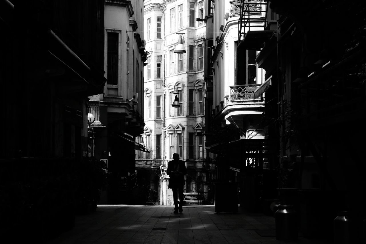 İstanbul, Beyoğlu Taksim Built Structure Architecture City Men City Istanbul Streetphotography Urbanphotography Travel Destinations Architecture Urban Canonphotography Turkey Cityscape Blackandwhite Black And White Dark Man Alone Alone In The Dark Street Outdoors Day City Street Adapted To The City