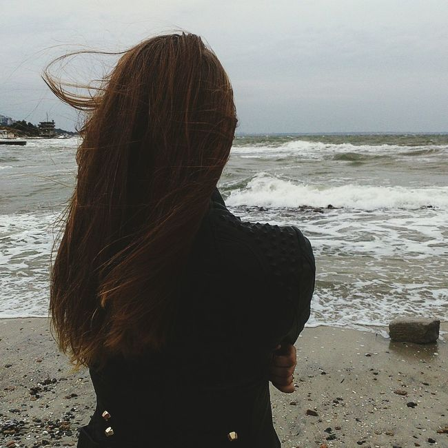 Sea Water Long Hair Beach Beauty In Nature Sky Person Loveyou♥ Sweet♡ Home