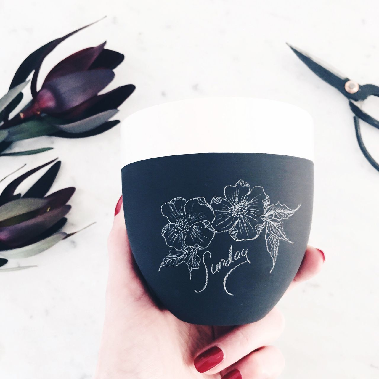 Nature Human Hand High Angle View Food And Drink Lifestyles Table Home Interior Pottery Illustration Art ArtWork Vscocam VSCO EyeEm Best Shots EyeEm Gallery Sunday Moody