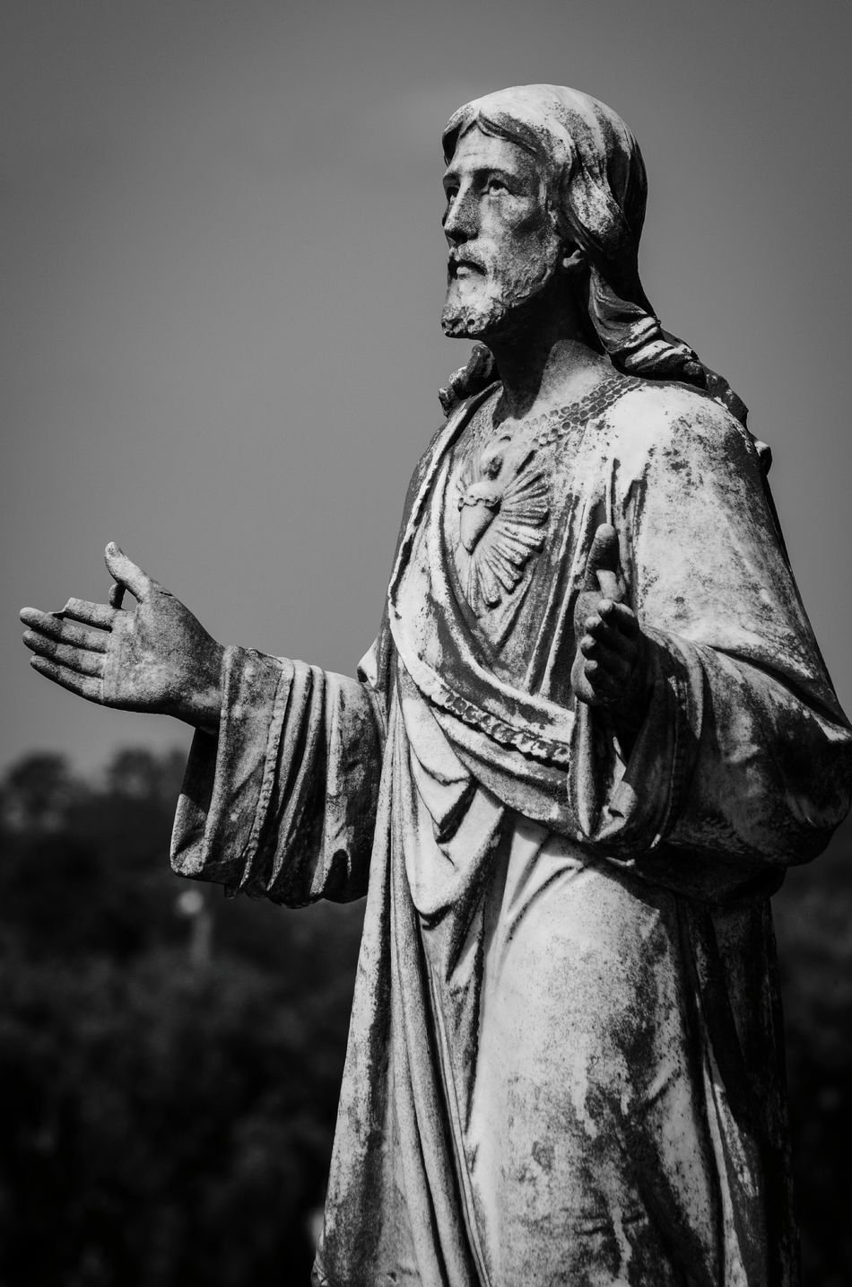 Statue Black & White Graveyard Beauty Cemetery Photography Nikon D5100  Jesus Religious Art