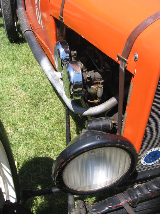 Cropped Day Grass Leather Straps Orange Color Outdoors Part Of Pipes Transportation Vintage Car Vintage Racer