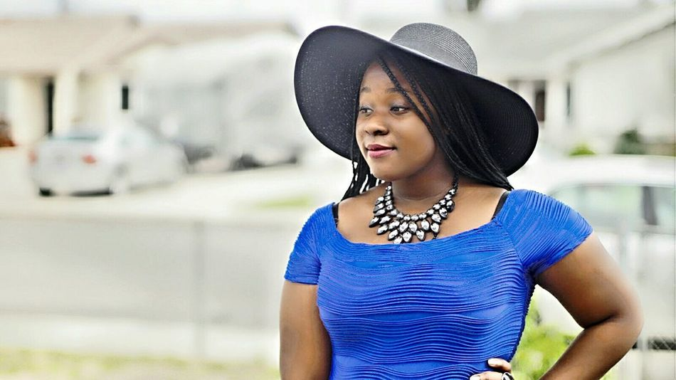 The Portraitist - 2016 EyeEm Awards 2016 graduate African Beauty Blue Dress Big Hat Braided Hair Cheese! Sonya6000