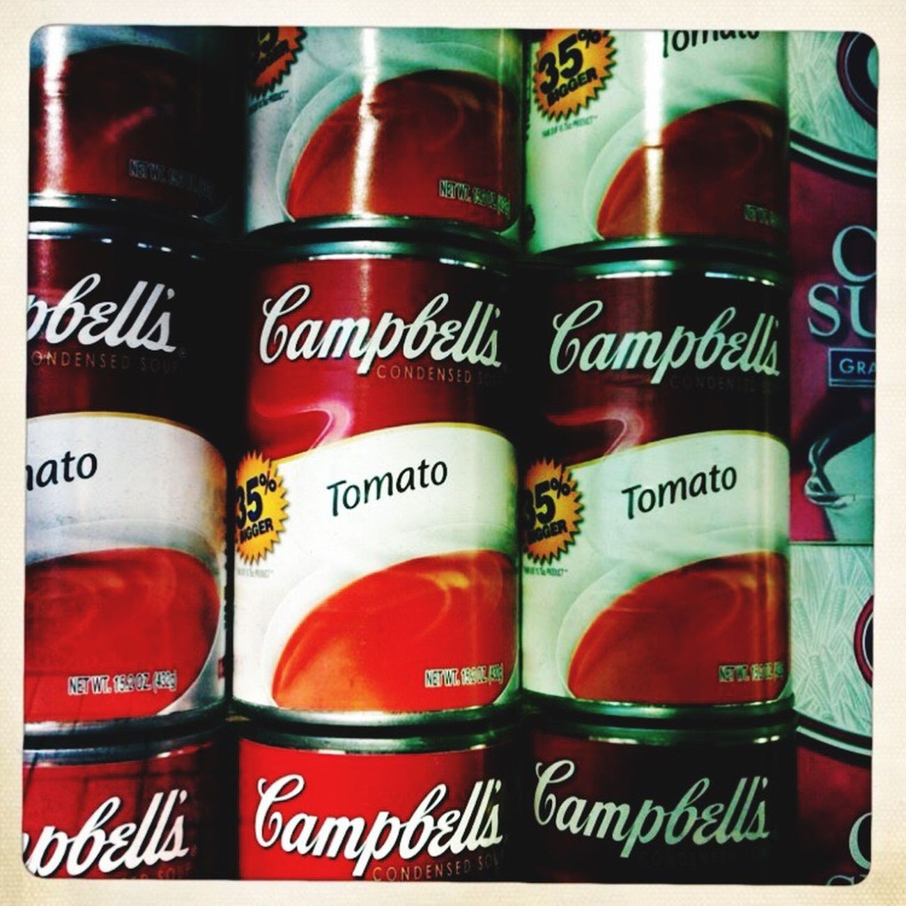 Beautifully Organized Warhol Inspired Campbells Food @Greg