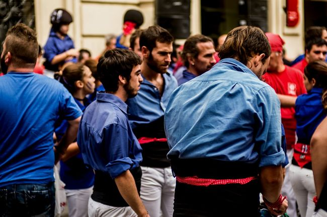 Castellers Castells Traditional Clothing Popular Culture Traditions Fragments Of Life Open Edit Lifestyles Crowd Built Structure Large Group Of People