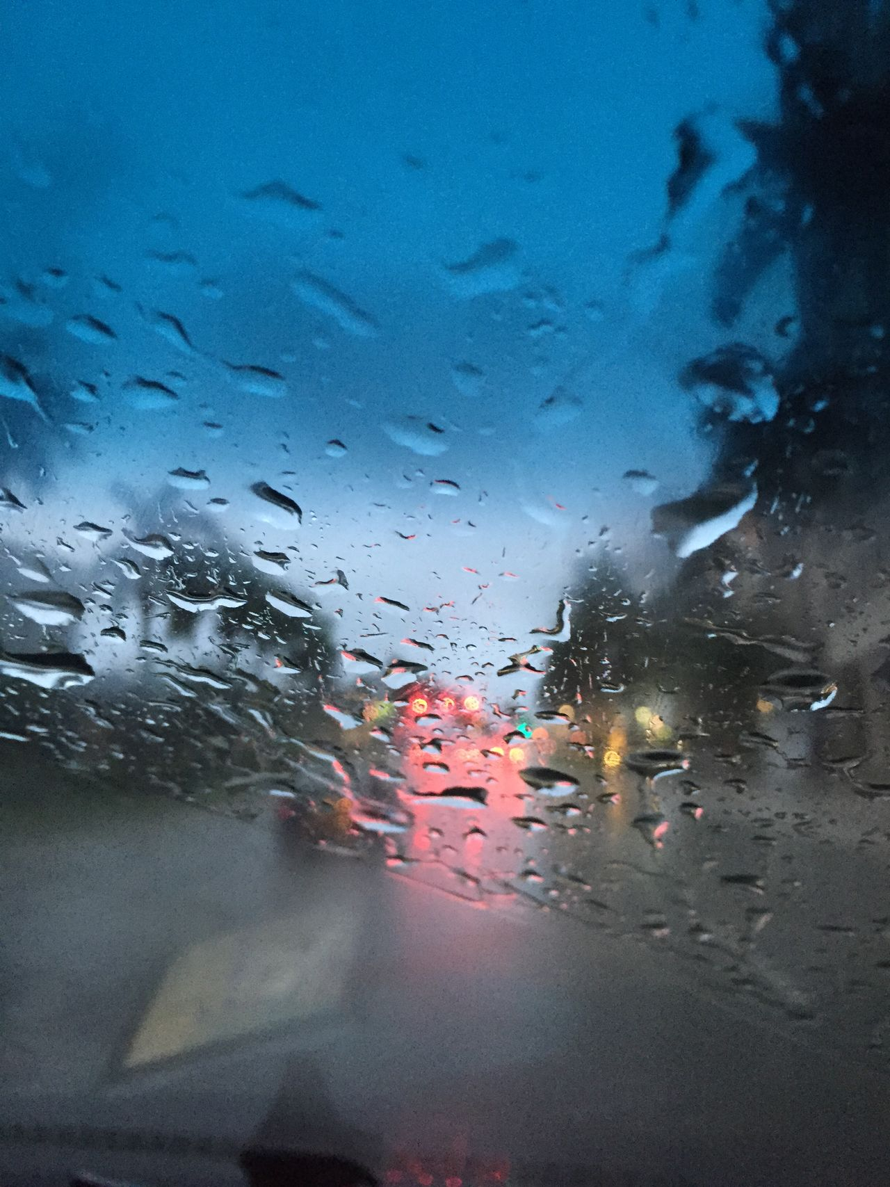Aquaplaning Car Drops Land Vehicle Mode Of Transport No People Pink Spot Pouring Rain Water Wet Window