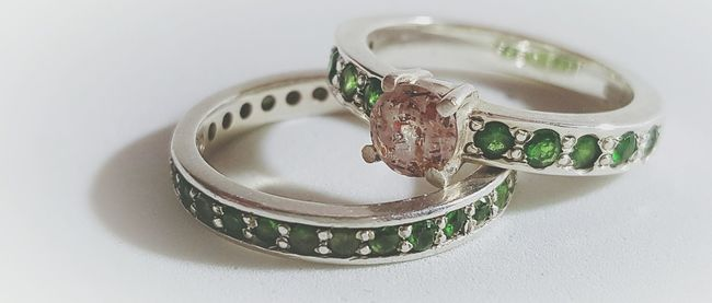 Rings Wedding Band Color Wedding Photography Gemstones Gemstone Rings Jewellery Irredeccent Gemstone Jewelry Details In Close Up Fresh Twist In Wedding Bands Marriage  Two Together Two As One Family Love Alliance One Of A Kind  Different Promise Full Frame Romance Fashion Union