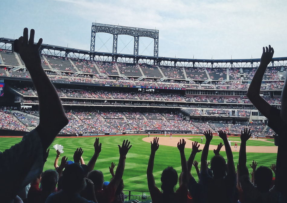 Late inning wave Team Cheering Baseball Game Stunning Collection Check This Out Mobile Photography Mobilephotography New York NYC Photography Mets Stadium Citi Field NY Mets New York City Queens