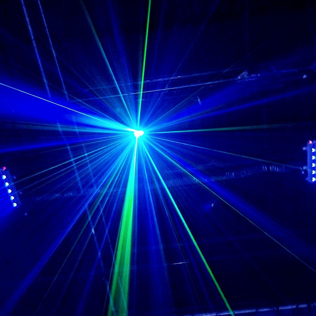 arts culture and entertainment, blue, indoors, nightlife, laser, illuminated, night, light beam, no people, nightclub