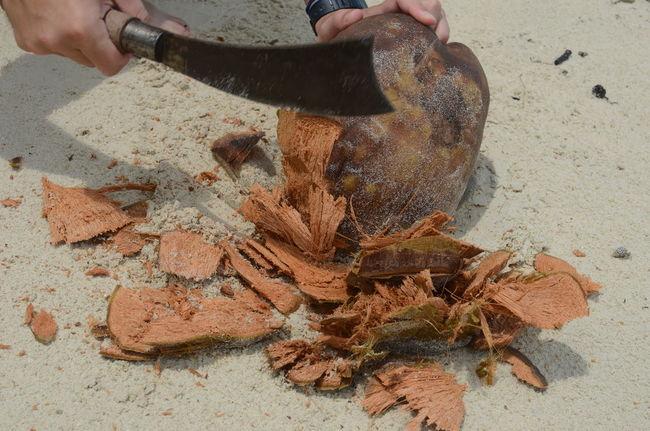 Andaman Andaman And Nicobar Islands Beach Beach Life Cocnut Cutting Coconut Havelockisland India Indien Kokosnuss Traveling