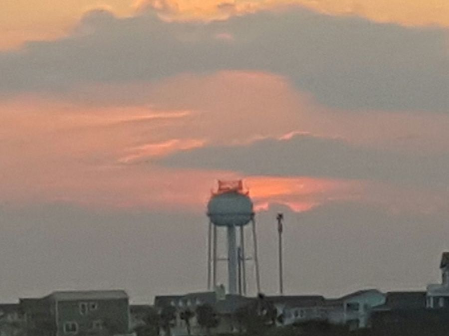 Amateurphotography Architecture Beach Life Beauty In Nature Building Exterior Built Structure City Cloud - Sky Day Easternnc Holdenbeach Nature NC No People Outdoors Redskyatnight Sailorsdelight Simple Beauty Sky Sunset Tower Water Tower - Storage Tank