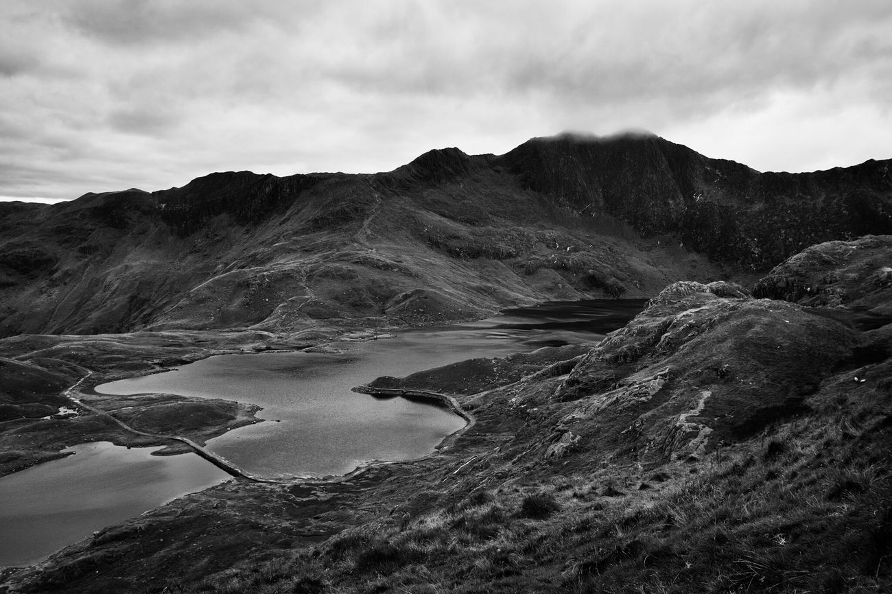 Pyg [2] - Snowdonia, Wales Snowdon Snowdonia Snowdonia National Park Lake Pyg Mountain Storm Dramatic Black & White Blackandwhite Monochrome Wales Road Bridge Vista