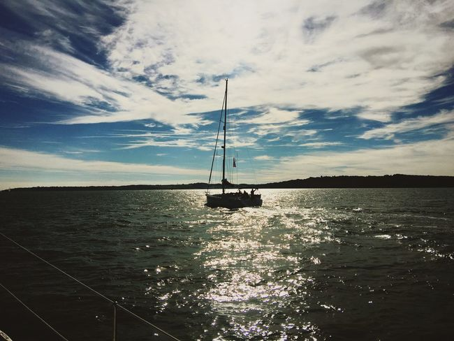 Yacht -Isle of Wight Nautical Vessel Sailboat Sailing Boat Tranquility Rippled Waterfront Cloud
