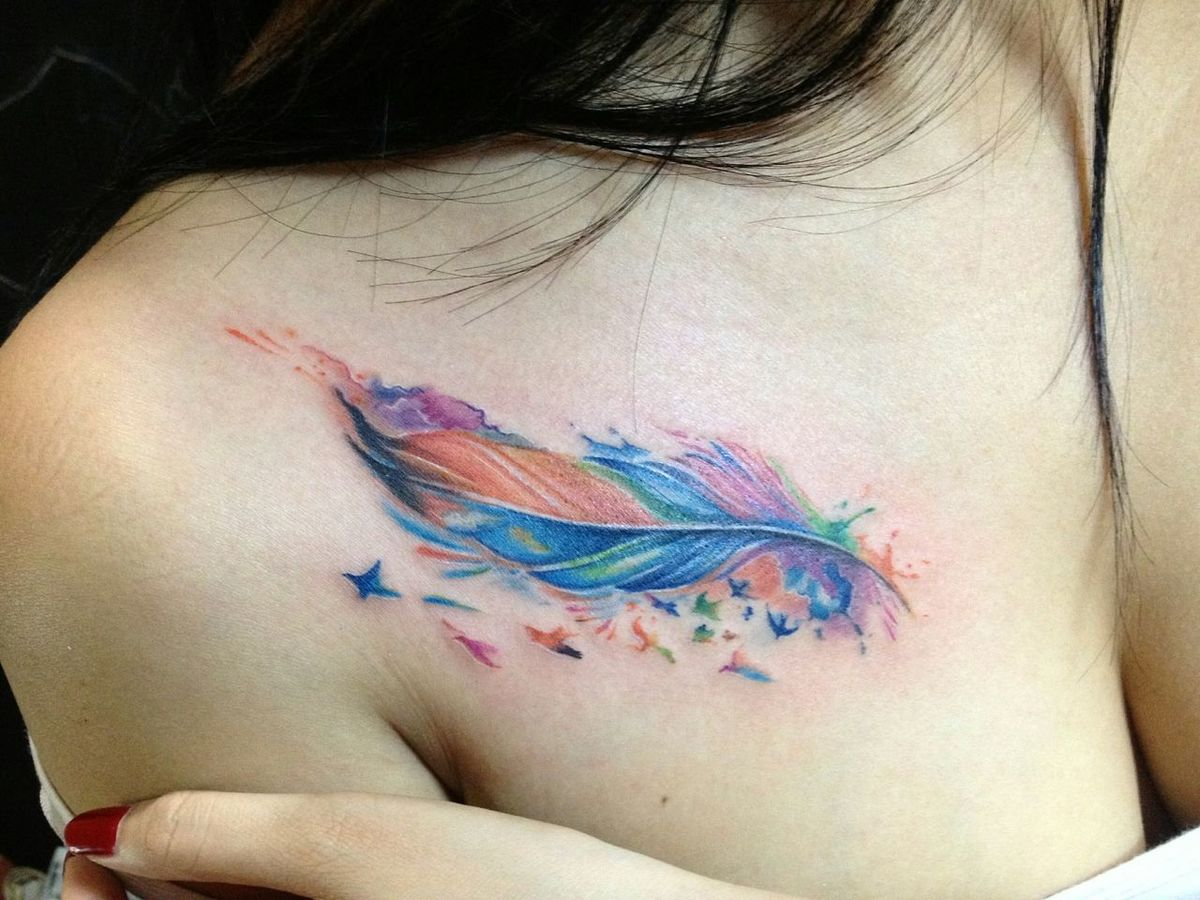 Tattoo Tattoos Watercolor Tattoo Tattooworks BloomInkGloomTattoo First Eyeem Photo Girlswithtattoos Girlstattoo