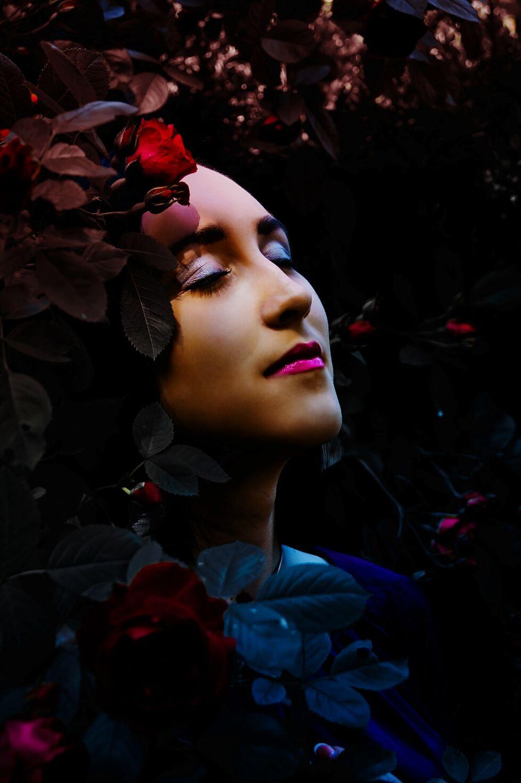 Girl Portrait Of A Woman Makeup Flowers Flower Frame Flower Framed Face