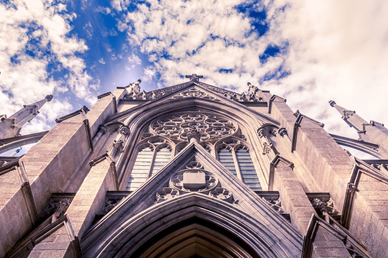 Cloud - Sky Low Angle View Architecture Sky Built Structure Building Exterior Religion Day Outdoors No People Spirituality Place Of Worship Ladyphotographerofthemonth Gothic Style Gothic Architecture