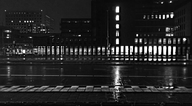 On my way to my Nightshift Nightphotography Night Night Lights Night Photography IPhoneography Taking Photos Black & White Blackandwhite City Cityscapes
