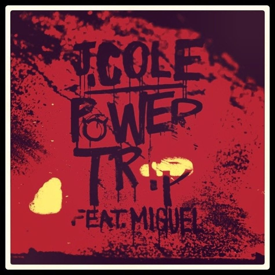 Instant classic! ^.^ JCole Miguel PowerTrip Cover art jam chillin late night post goodmorning sunrise red chill nostalgic instadaily peace love summer 2014 hipster rap hiphop lyrics like4like instagood follow me