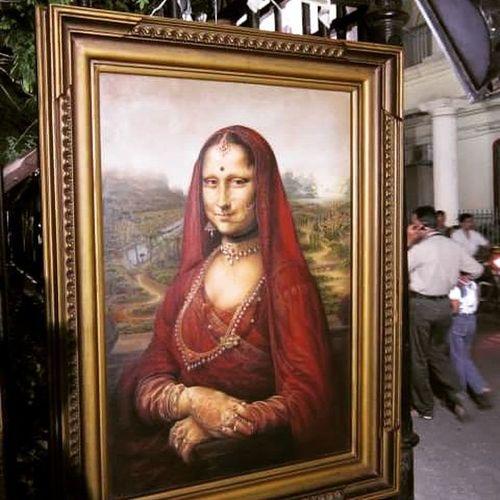 Jai ho !!! Proud to be an indian 😀 Funny Funnypictures Creativity Monalisa Davincisdemons Thalapakatubiriyani Pondicherrytimes