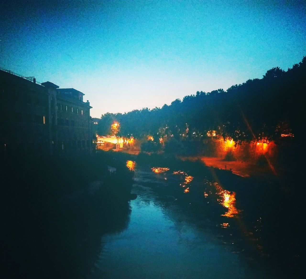 Romebynight Sweetmemory Lungotevere Instantphoto