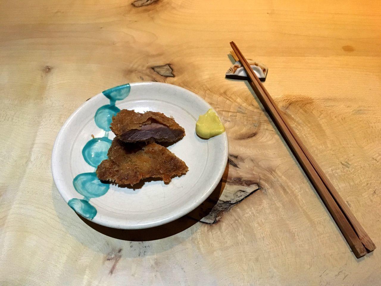 Dinner Schnitzel Japanese Food Mustard Minimalism Plating