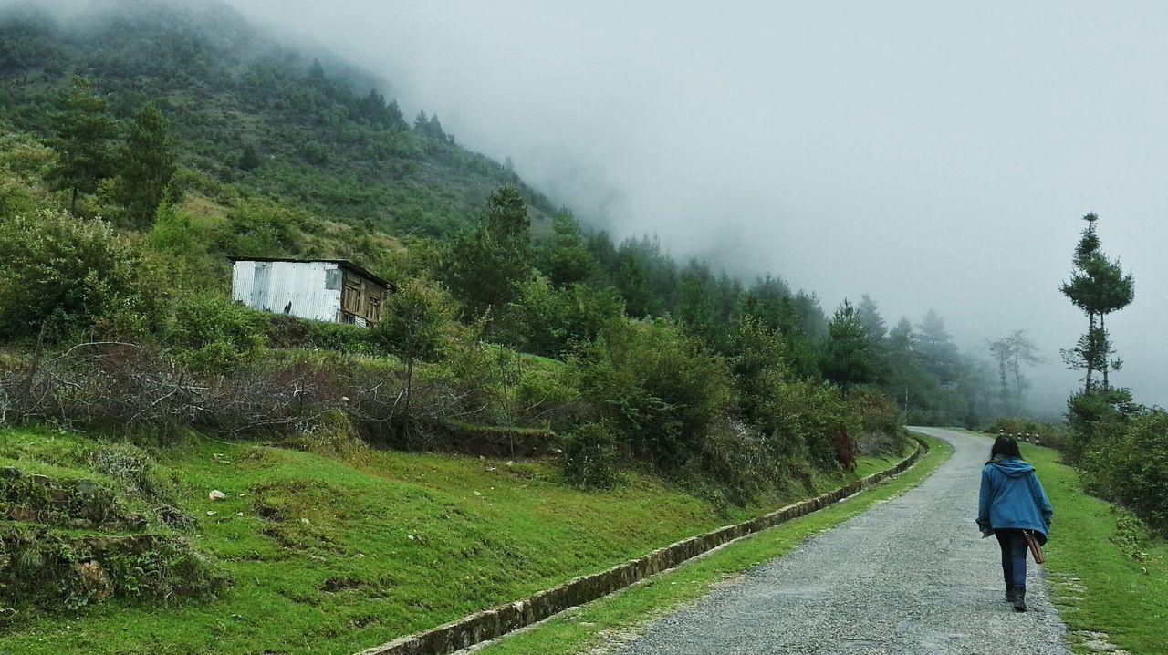 Feel The Journey Highway Hillyroad Hills Loner Lone Walking Travel TravelNepal Chillyweather  Fog Foggy Village Jiri Central Region Nepal Eyeemnepal