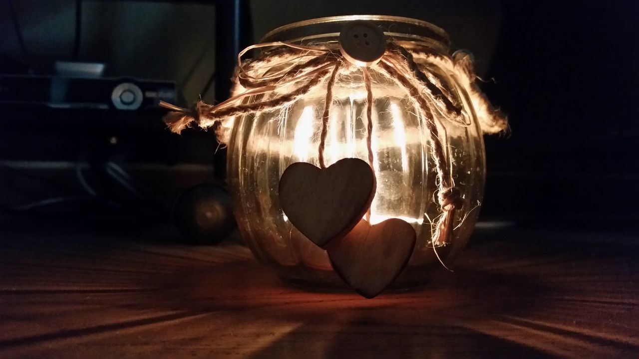 Indoors  Illuminated No People Hearts Candle Flame Candle Light