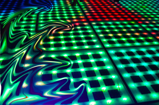 dance floor Colorful Dance Floor Denger Lights Lights Floor Liquify Liquify And Mosaic Effect Liquify Effect Melting Multi Colored Night Lights On The Dance Floor  Salutation To The Sun