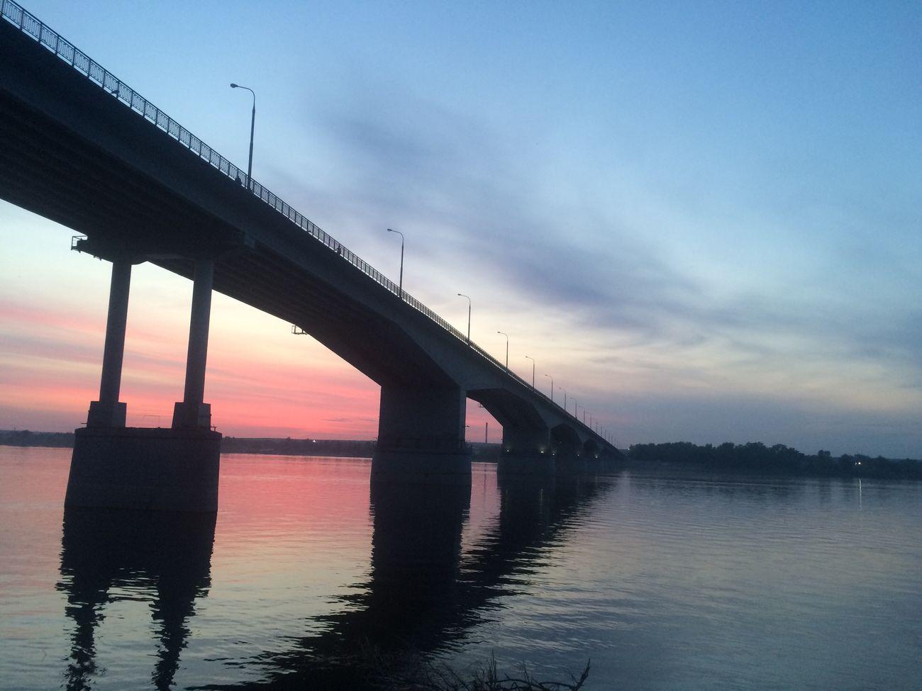 Пермь мост набережная Закат