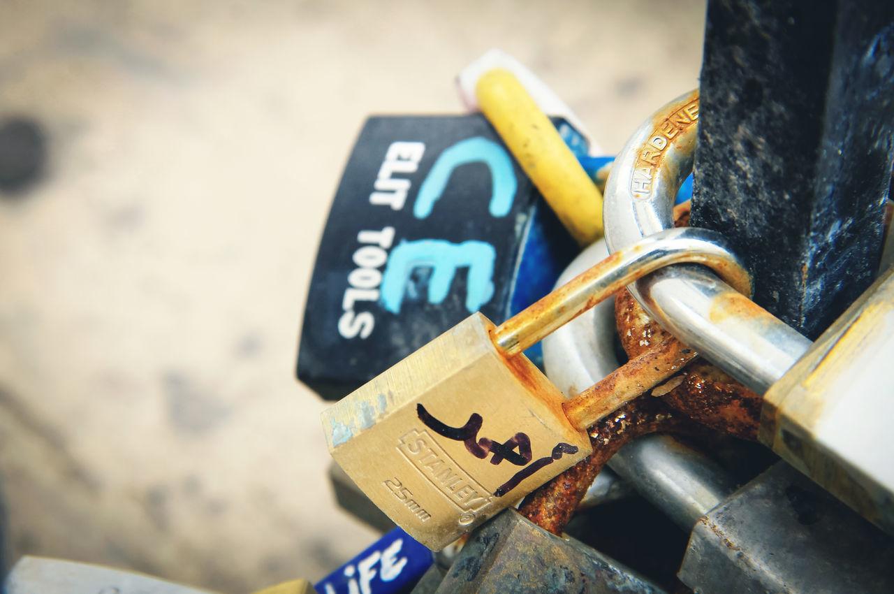 Padlock Blue Close-up Love Malta Metal Metallic Outdoors Padlock Rust Rusty Text