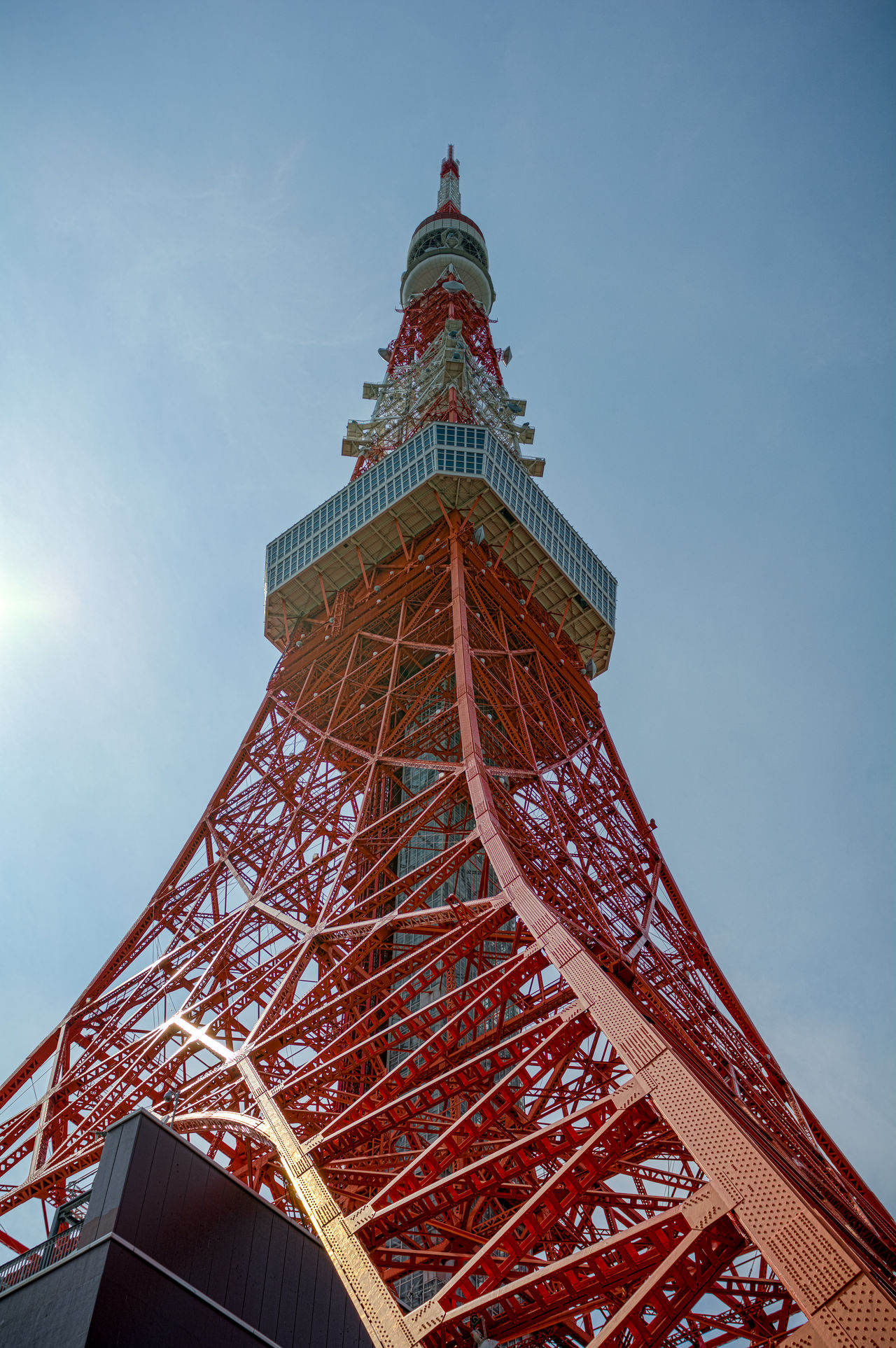 Tokyo Tower in Japan Architecture Arts Culture And Entertainment Blue Sky Building Building Exterior Built Structure Capital Cities  Clear Sky International Landmark Japan Japanese  Low Angle View Tall Tall - High Tokyo Tower Tower Towers Zojojitemple