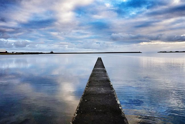 Blue Sea Blue Sky Blue Morning 😉 Njarðvik Hanging Out Taking Photos I Just Want To Make Her Happy Beautiful Nature Beautiful Day Blue Sky Blue Sea My Best Photo 2015 Sky_ Collection Skyporn Mirrorless Sony A5000 Sea And Sky Sky And Clouds Keflavík Sea View