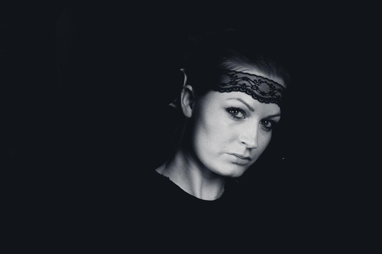 Beautiful stock photos of black background, 20-24 Years, Black Background, Caucasian Ethnicity, Close-Up