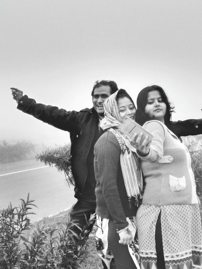 Disturbing them while taking selfie... funny moment... Togetherness Men Happiness Women Winter Adults Only Heterosexual Couple Couple - Relationship Adult Two People Mature Adult Lifestyles People Care Smiling Bonding Warm Clothing Fun Females Enjoying Winter Weather Young Women Standing Friendship Enjoying Life