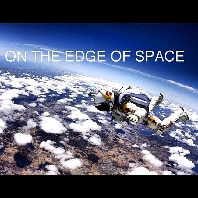 ON THE EDGE OF SPACE #redbull #stratos #redbullstratos #flight #space #sky #clouds #earth #crazy #felixbaumgartner #jump #igdaily #instadaily #instagood Felixbaumgartner Clouds Sky Space Jump Flight Earth Crazy RedBull Skydive IGDaily Instagood Instadaily Stratos Redbullstratos