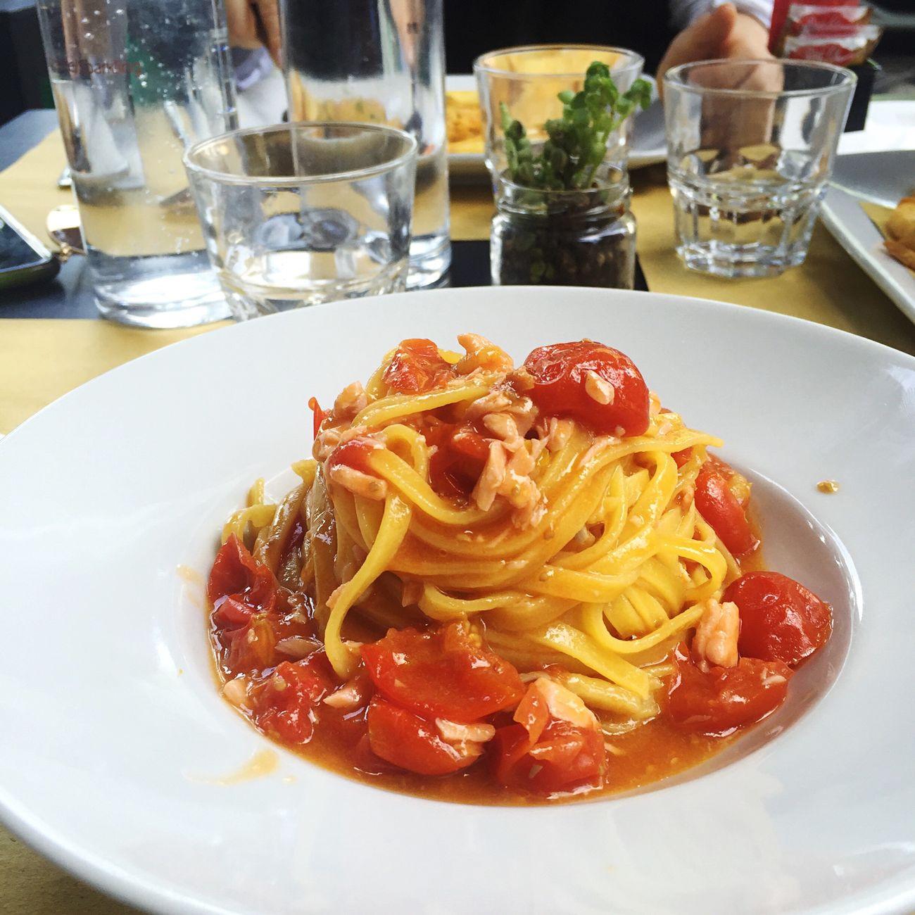 Pasta For Lunch Pomodoro Salmone Enjoying Life ♥