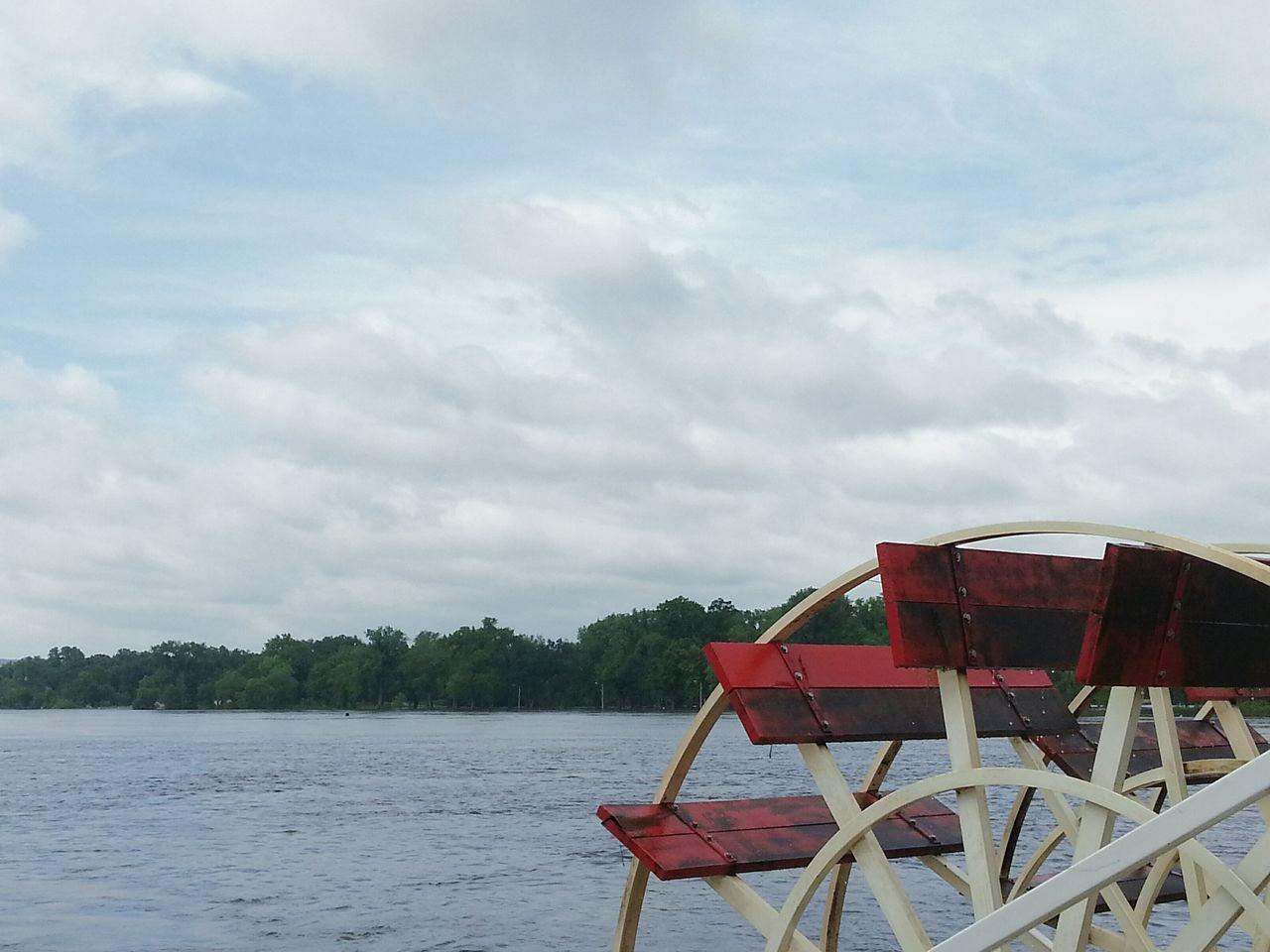 Propeller of boat in lake