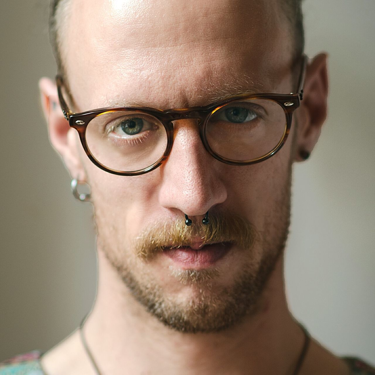 Portrait Looking At Camera Adult Front View Headshot Adults Only Only Men Human Body Part One Person One Man Only Human Face Eyeglasses  People Individuality Studio Shot Shaved Head Young Adult Real People Attitude Close-up Natural Natural Light Berlin