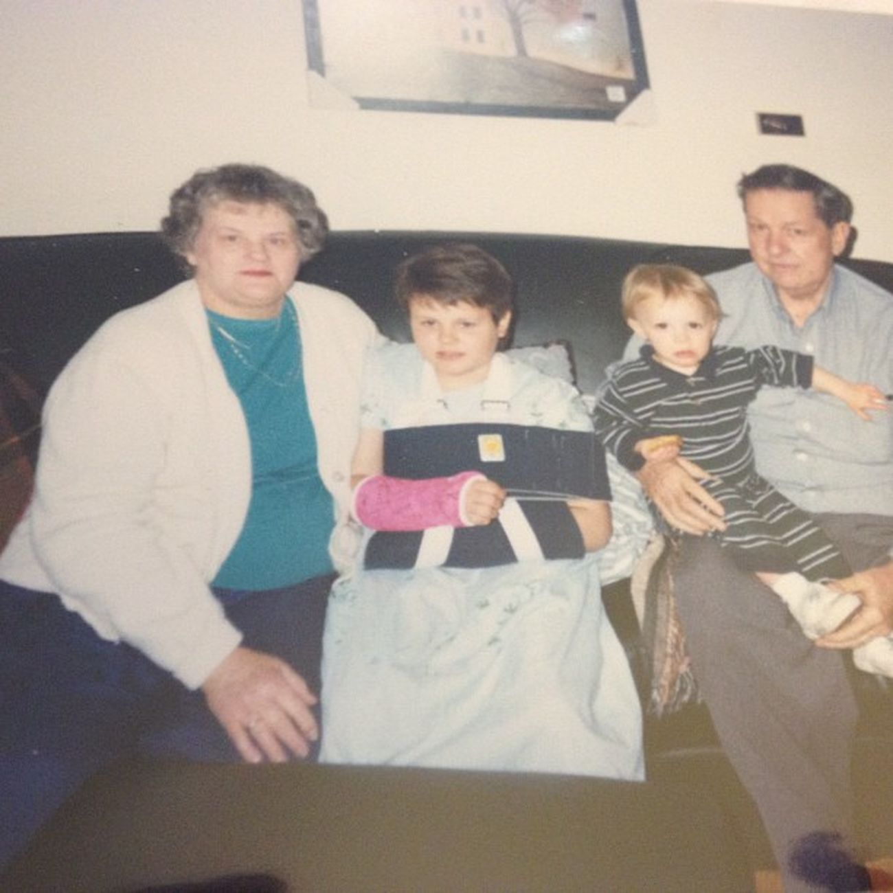 My grandparents came to visit me after I broke both of my arms in 2nd grade . Throwback Botharms