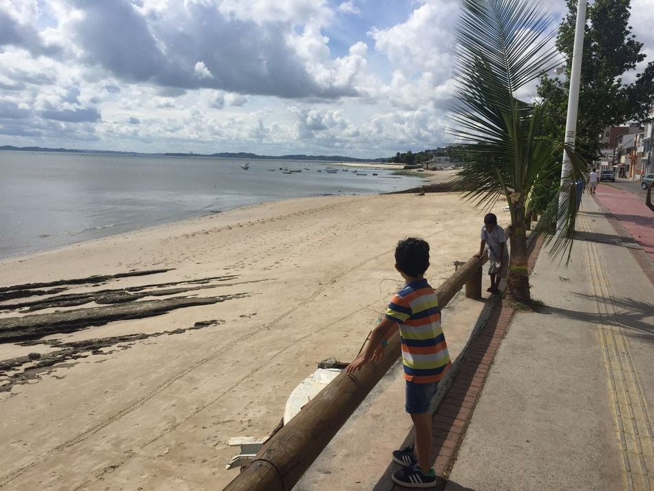 Beach Sand Sea Child Horizon Over Water Nature Beauty In Nature Water Tree Palm Tree One Person Bahia Brazil Love PraiadaRibeira Salvador