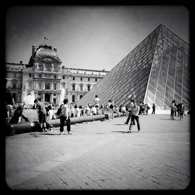 blackandwhite at Musée du Louvre by Angel Kelly