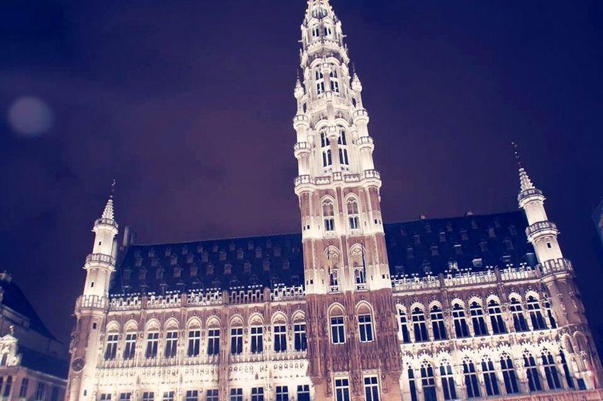 Brussels Belgium Night Photography