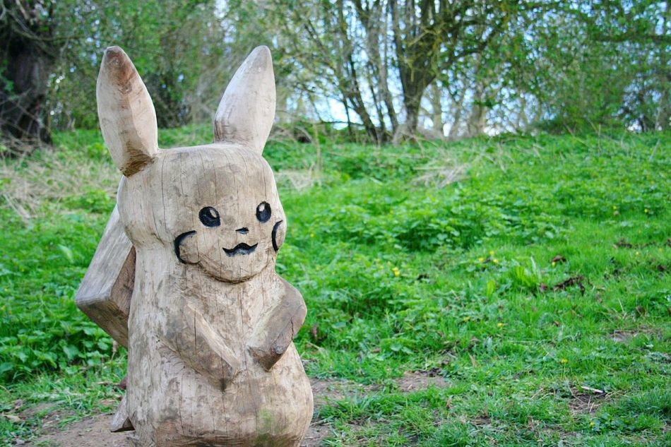 Suddenly a wild Pikachu appeared! No People Tree Nature Grass Childhood Outdoors Day EyeEmNewHere The Way Forward Backgrounds Pokémon Pikachu Wood Carpentry Adventure The Secret Spaces