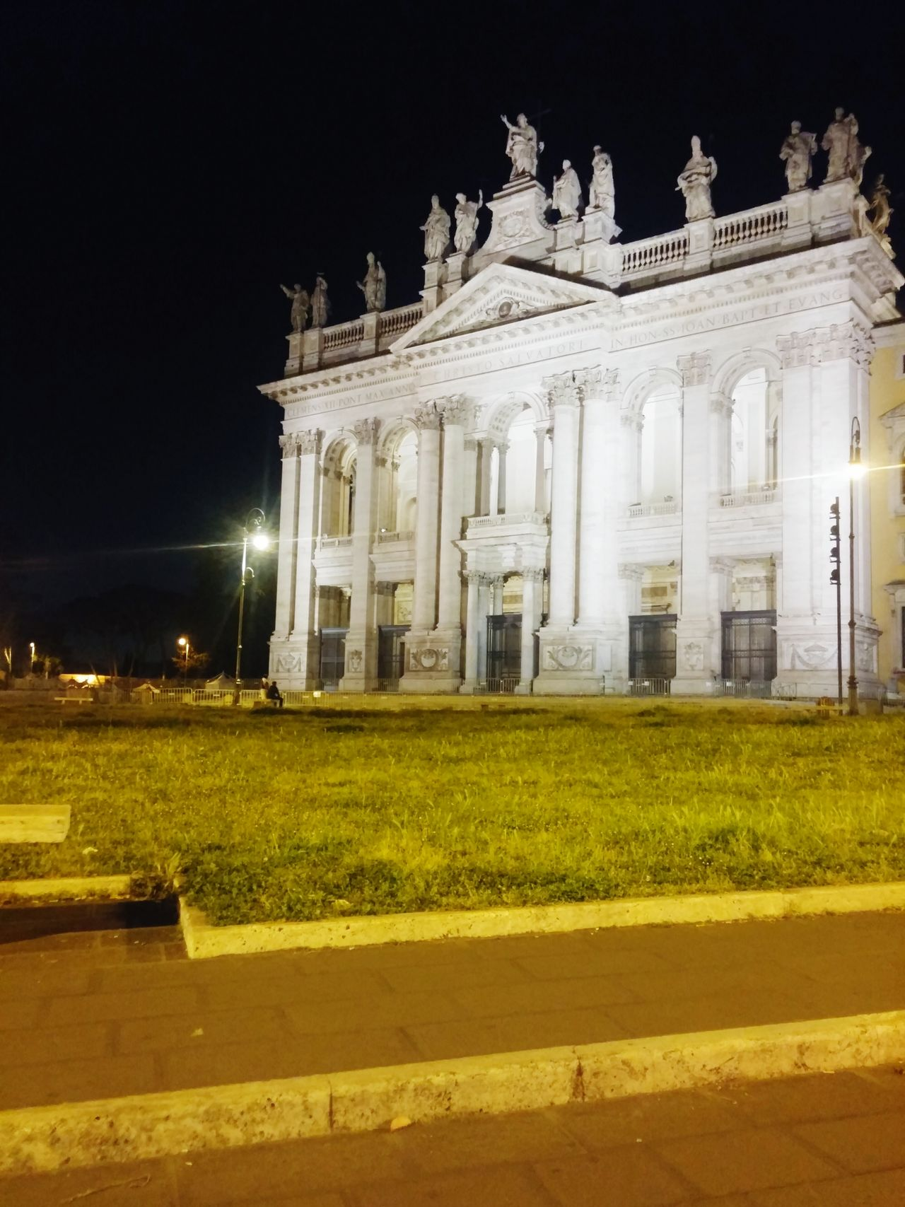 Rome By Night Rome Italy🇮🇹 Basilica Di S. Giovanni In Laterano Built Structure Illuminated Architecture Night History No People Building Exterior Nightphotography Night Shot Outdoor Photography Street Photography Night Lights My Own Photography No Filter
