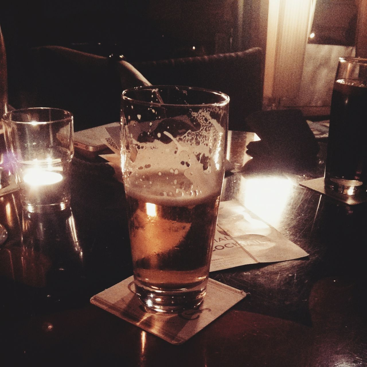 drink, food and drink, drinking glass, table, alcohol, refreshment, indoors, close-up, beer, no people, freshness, frothy drink, day