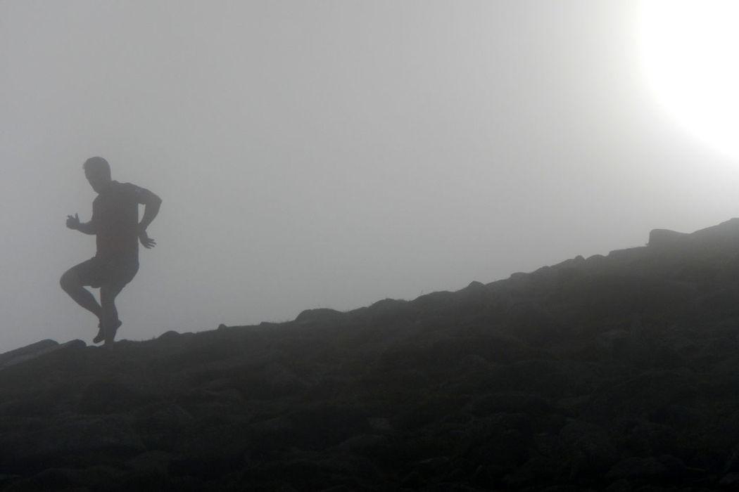Leisure Activity Misty Mountain Mountain Runner Mountain Running Outdoors Silhouette Sun